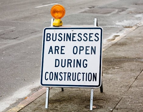 Businesses Open During Construction