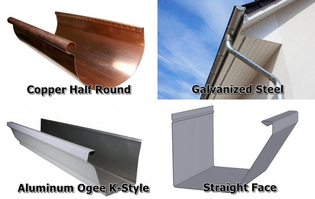 Gutter Styles and Material Choices in Rain Gutter Selection Guide