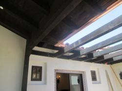 Copper Gutters on Patio Roof