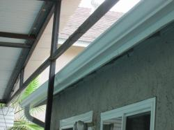 Installing Gutters Behind Existing Structures